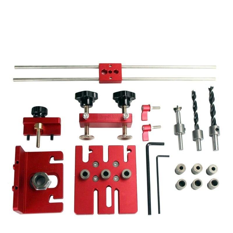 3 в 1 буровой локатор деревообрабатывающий инструмент DIY деревообрабатывающий Столярный станок Высокоточный дюбель Jigs комплект сверлильны...