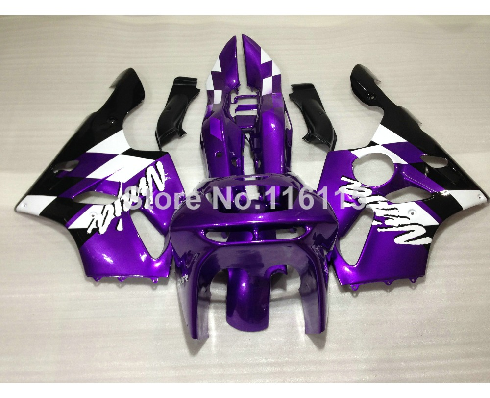 Full fairing kit for Kawasaki ZX6R 1994 1995 1996 1997 Ninja 636 ZX 6R 94-97 white black purple customize fairings set EF24
