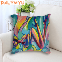 Sexy Girl Abstract Oil Painting Print Seat Cushion Home Decorative Sofa Throw Pillow Case Cotton Linen Cushion Cover цена