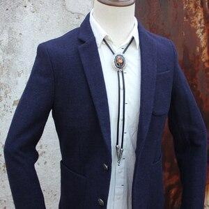 Image 4 - Original designer bolotie alloy collet colorful stone bolo tie for men personality neck tie fashion accessory