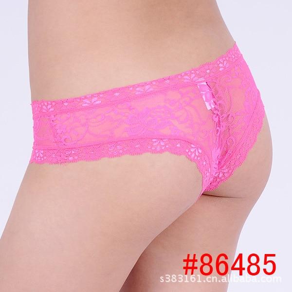 Sheer Lace underwear women font b briefs b font thongs 2016 Solid Silk Panties String Woman