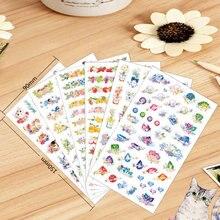 72 unids/lote lindo gato en el jardín etiqueta flor aves diamante pegatinas álbum libro diario decoración papelería escolares ET956