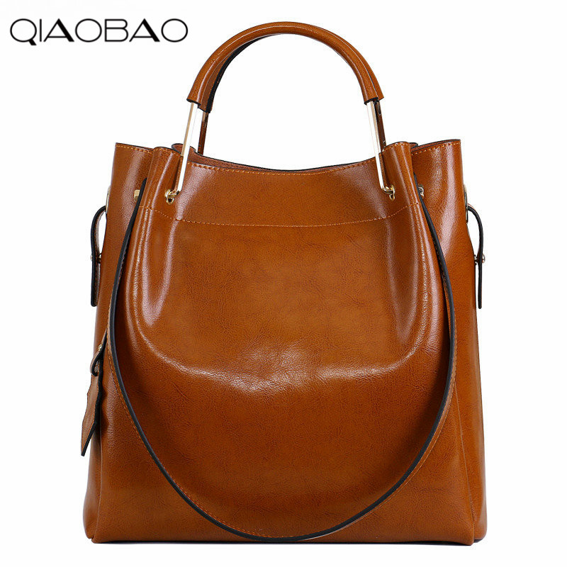 QIAOBAO New Fashion Cowhide Women Messenger Bags Genuine Leather Female Cross Body Bag Casual Women Shopping Totes qiaobao women general genuine leather handbags tide europe fashion first layer of cowhide women bag hand diagonal cross package