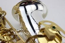 2017 Selmer SAS-R54 Saxophone Eb Sax boquilha Alto Saxophone Silver Electrophoresis Professional Musical Instrument Saxofone