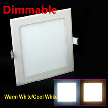 Dimmable LED DowDimmable led downlight square panel light 3w 4w 6w 9w 12w 15w 25w ceiling recessed lamp warm cold white plafond(China)