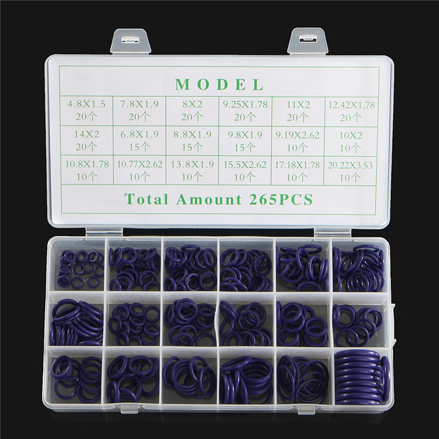 265pcs 18 Sizes Car A/C System Auto Air Conditioning Rings Set Air  Conditioning HNBR O Rings Seals Set Vehicle Kit Tools-in Air Conditioner  Parts from