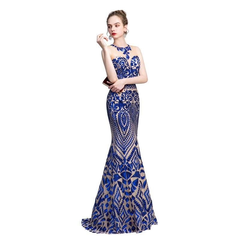 Élégant o-cou sans manches broderie dentelle sirène Vestido de festa longo Robe longue sereine colline Abiye elbise suknie wieczor5%