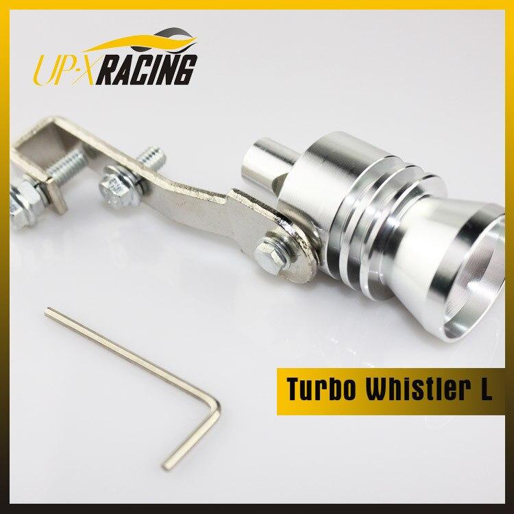 free shipping L Turbo Sound Whistler Exhaust Muffler Pipe Fake Blow Off Valve Simulator BOV Whistler turbo sound tip