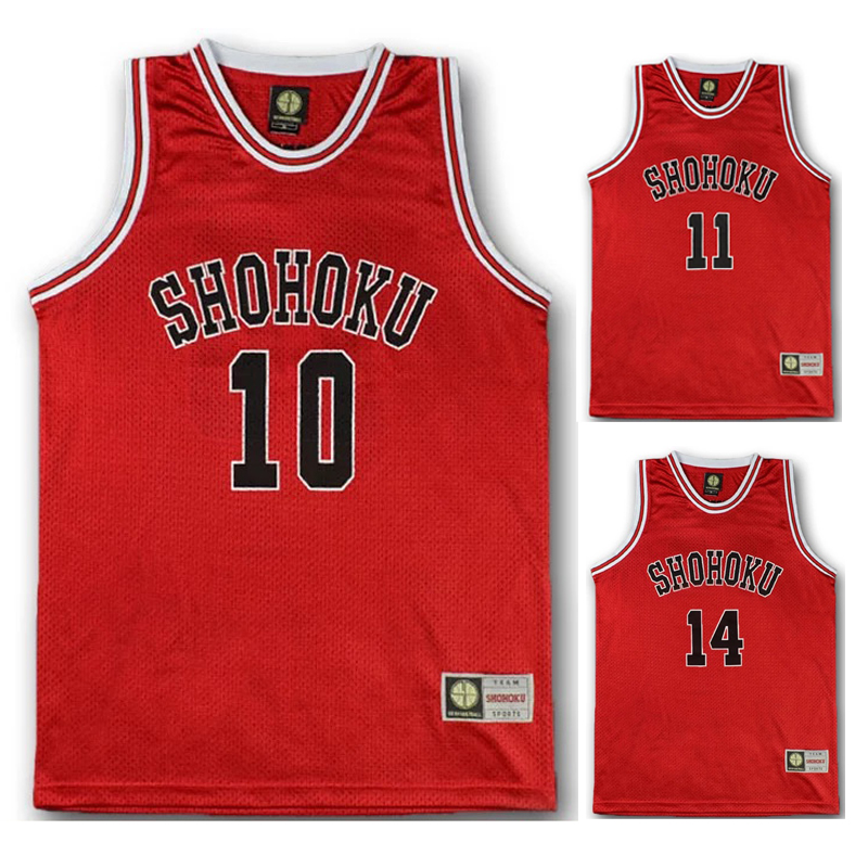 Anime Shohoku School Basketball Team 1-15 SLAM DUNK Cosplay Costume Sakuragi Hanamichi Jersey Tops Shirt Sports Wear Uniform