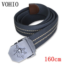 VOHIO 2017 men's belt large size military equipment long automatic mens belt for jeans 160cm men belt luxury famous brand size55