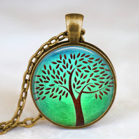 Handmade Necklace Tree Of Life Long Necklace Antique Bronze Plated Colar Colares Femininos Friend Family Gift