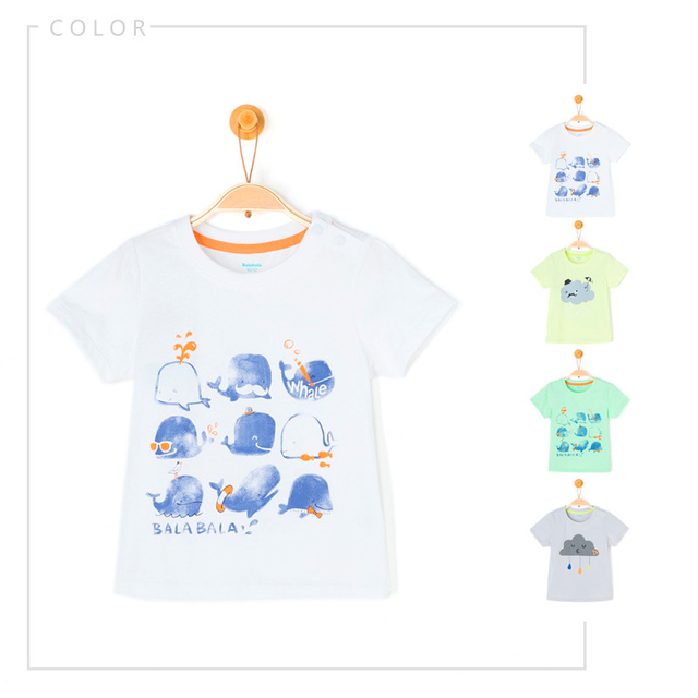 2016 T Shirt For Boys Funny Kids Cartoon Vetement Garcon Clothing For Boys Print Child Summer Baby Boy Tshirt Cotton 50H054