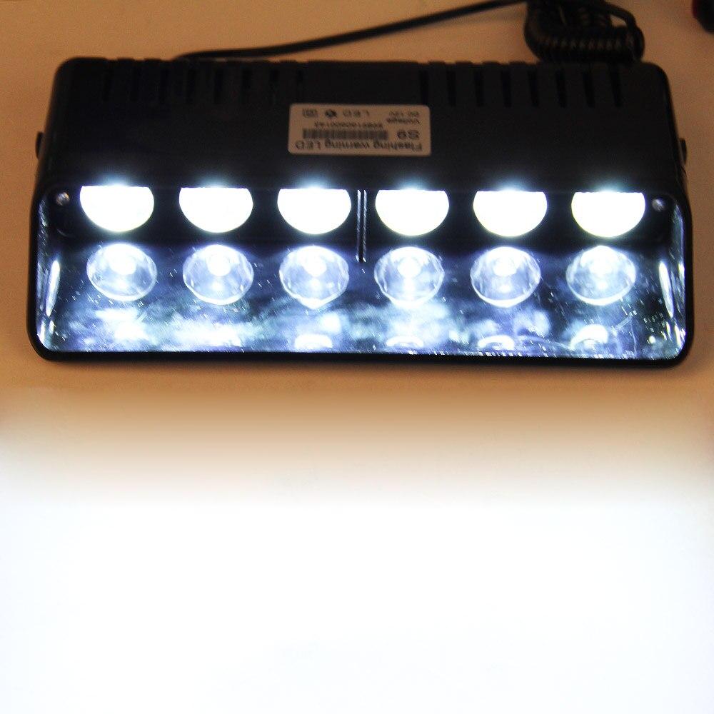 6 LED Windshield Warning Light Car Flashing Lightbar Viper Strobe Lights Truck Beacons Emergency Signal lamp Suction Cup DC 12V