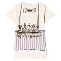 Girl Casual Dress Ice Cream Pattern Cartoon Cotton Soft Dress Summer Short Sleeve Comfortable Soft Straight