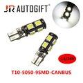 20 шт., Автомобильные светодиодные лампы T10 5050 9 SMD Canbus без ошибок, 12 В, 24 В, 194, 168, W5W