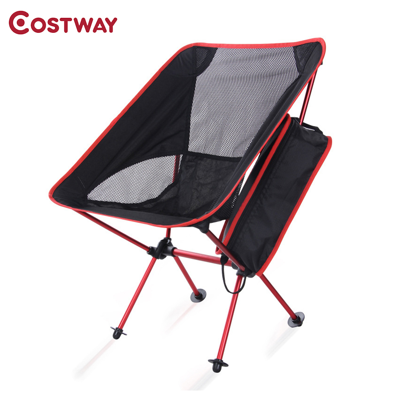 COSTWAY Outdoor Camping Folding Chair Oxford Cloth Fishing Chair Ultra Light Portable Leisure Beach Chair W0208 costway outdoor aluminum alloy backrest stool camping folding chair oxford cloth fishing chair portable beach chair w0263