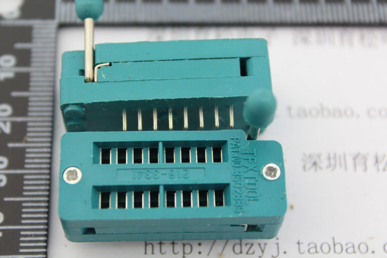 16 PIC 16 p lock red bridge IC testing bridge 16 p live base integrated circuit chip socket