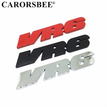 3D Metal VR6 Logo Auto accessories Body Rear Trunk Decal Chrome Emblem Badge Car Sticker for Volkswagen passat b6 golf 7 t5 t6 стоимость