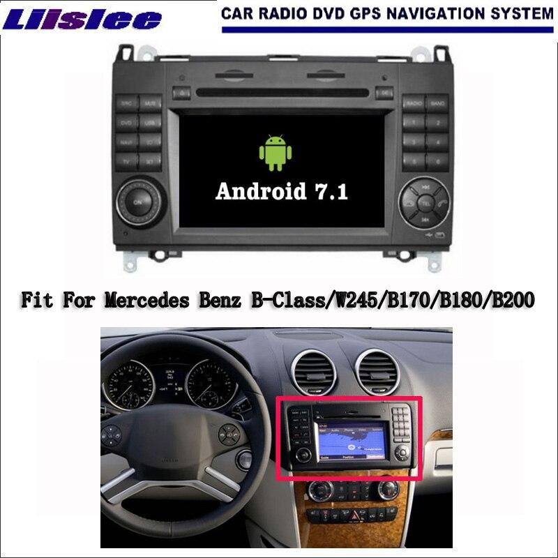 Liislee Android 7,1 2G Оперативная память для Mercedes Benz B класс W245 автомобиль радио, аудио и видео мультимедийный dvd плеер WI FI gps навигатор