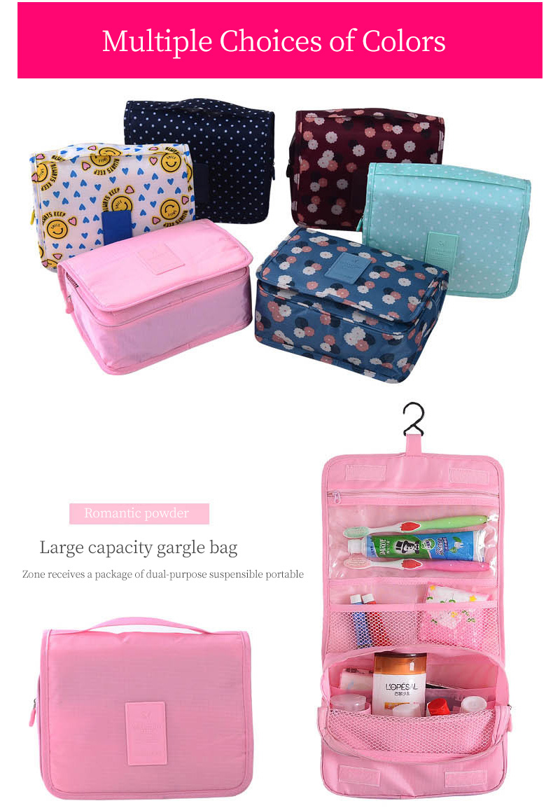 e12983ba7918 Waterproof Hanging Travel Organizer Bag Nylon Cosmetic Bags Zipper  Necessaire Bath Make Up Bag Unisex Neceser Toiletry Kits