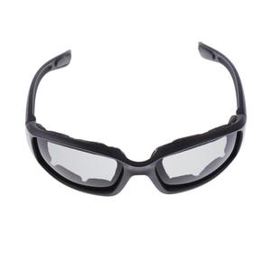 Image 2 - 3 Pair PVC Retro Motorcycle Windproof Padded Foam Riding Glasses UV400 lenses Motobike Men Eyewear Yellow Clear Smoke