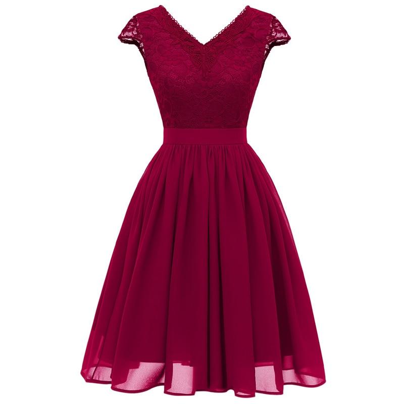Banquet Dresses 2019 New Design Elegant Dress Bridesmaid Chiffon Prom Dresses V Collar Chiffon Longue Wedding Party