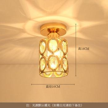 Artpad Modern LED Crystal Ceiling Light for Entrance Corridor Balcony Aisle Decor Surface Mount Square Round Gold Ceiling Lamp 12