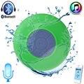 Mini Portátil À Prova D' Água Bluetooth Speaker com Microfone para Chamadas Mãos livres Orador Chuveiro com Suporte Ventosa para Celular Sem Fio