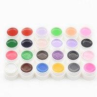 24 Pure Schilderen UV Gel Schoonheid Kleuren Snelle Droge Tips Shiny Cover verf gel Nail Gel Set Voor Builder Poolse Lamp Kit