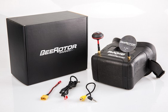 Bvone Beerotor FPV Goggles 5.8G 40CH vicdeo glasses Raceband 800*48 Screen Auto Search with Mushroom 5dBi Plate Antenna