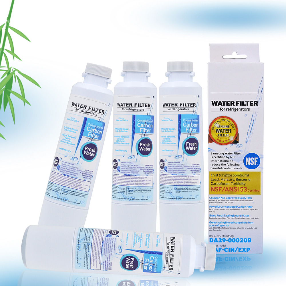 NEW Household Water Purifiers Refrigerator Water Filter Cartridge Activated Carbon Replacement for Samsung DA29-00020B 4 Pcs/lot hot sale household filter gre1011 refrigerator water filter kitchen activated carbon replacement for ge mwf mwfa 1piece