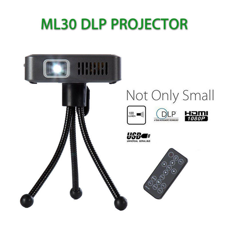 ML30 Mini Portátil Con Cable LED DLP Pico Proyector 100 Lúmenes 1080 p HD HDMI U