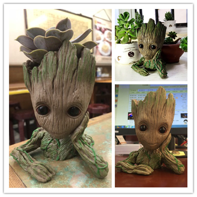 Guardians of The Galaxy Flowerpot Baby Action Figures Cute Model Toy Pen Pot Best Christmas Gifts For Kids Home Decoration groot in stock brinquedos guardians of the galaxy mini cute model action and toy figures cartoon movies and tv p313