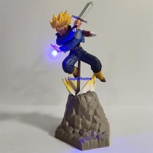 Image 4 - Figuras de acción de Goku, modelo en PVC de padre e hijo de Dragon Ball Z Vegeta, Goku Super Saiyan Vegeta, Goku, juguete para regalo
