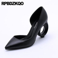Customized Pumps Ladies Ultra Black Catwalk Pointed Toe Luxury Women Shoes Size 4 34 Suede Extreme Super High Heels Sandals