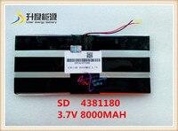3 7V 8000mAH 4381180 PLIB Polymer Lithium Ion Battery Li Ion Battery For Tablet Pc PIPO