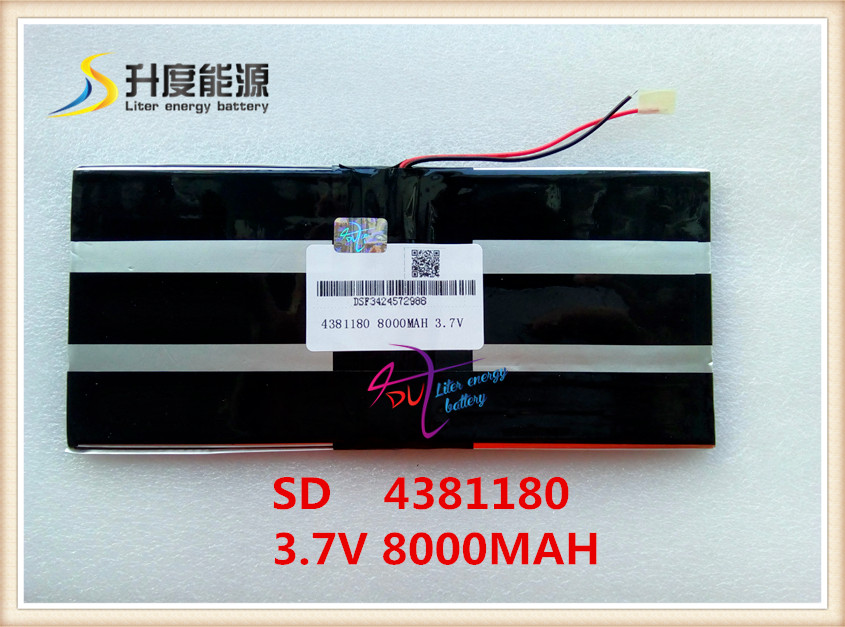 3 7V 8000mAH 4381180 PLIB polymer lithium ion battery Li ion battery for tablet pc PIPO