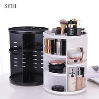 DIY Colorful Cosmetic Large Capacity 360 rotating makeup organizer Adjustable Multi Function Cosmetics Storage Box