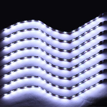 EE support 8 Pcs 15 LED 12V 30CM Lights Grill Flexible Waterproof Led Light Strip SMD Car Accessories XY01