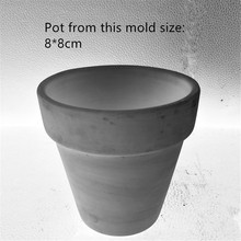 Round Craft flower Pot Making Cement Mould Handmade Decorating Concrete Planter Silicone Mold