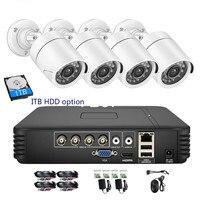CCTV 4CH 720 P/1080 P комплект камеры AHD P2P HDMI H. 264 DVR видеонаблюдения Системы Водонепроницаемый Открытый комплект камер видеонаблюдения