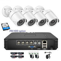 CCTV 4CH 720P/1080P AHD Camera Kit P2P HDMI H. 264 DVR Video Surveillance System Waterproof Outdoor Security Camera Kit