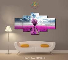 3-4-5 Шт. Цветы Поле Дерево Fmdern Wall Art Pictures HD Печатные Холст Картины Модульные Картины  Лучший!