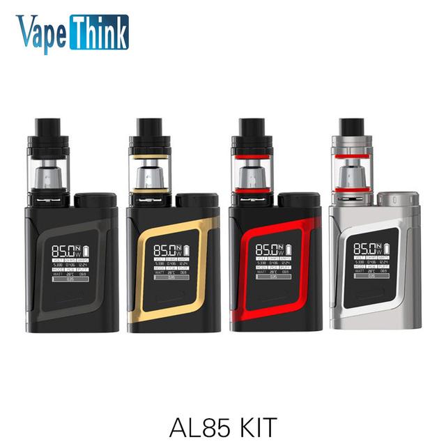 Original smok kit con 85 w caja mod vape al85 al85 y 3 ml tfv8 bebé tanque atomizador e-cigarrillos kit istick vs alien smok pico