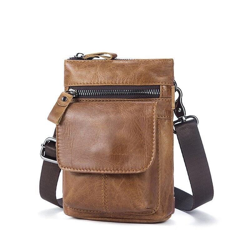 Пояса из натуральной кожи сумка высокого качества сумка Винтаж природных коровьей сотовый телефон карман сумки Повседневное Талии Путешес...