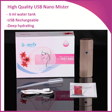 Free Shipping  Deep Cleansing Moist Hydrating Portable USB Rechargeable Nano Mister Nano Spa Facial Beauty Face Steamer