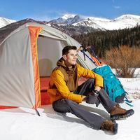 1 2 Person Waterproof Camping Tents 4 Seasons Tents Double Layer Oudoor Camp Equipment Winter Tents High Quality