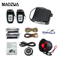 Maozua Car Alarm Push Button Start Stop with PKE Passive Keyless Entry Cars Remote Engine Start Stop Automotive DC12V