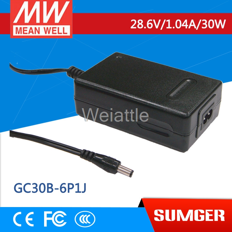 MEAN WELL original GC30B-6P1J 28.6V 1.04A meanwell GC30B 28.6V 30W Power Adaptor with Charging FunctionMEAN WELL original GC30B-6P1J 28.6V 1.04A meanwell GC30B 28.6V 30W Power Adaptor with Charging Function