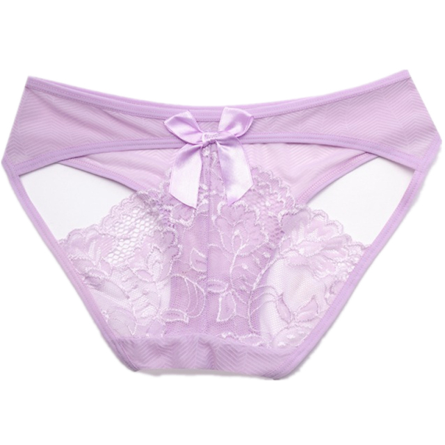Transparent Sexy Panties Girls Lace Briefs Low Waist Seamless Sexy Lace Underpants Women Underwear